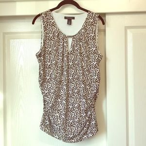 WHBM stretch Leopard Print Top size XL